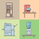 Biurowy kuchenny techniczny izbowy wewnętrzny salowy set ilustracja wektor