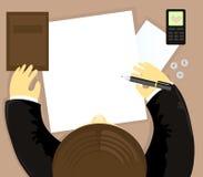 biurowy mężczyzna writing Fotografia Royalty Free