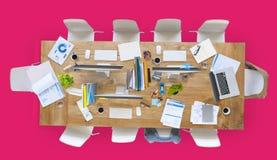 Biurowy miejsce pracy stołu miejsce pracy pojęcie Obraz Stock