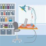 Biurowy pracujący miejsce Obraz Royalty Free