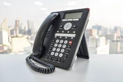 Biurowy telefon - IP telefonu technologia dla biznesu Fotografia Royalty Free