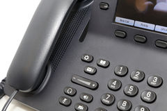 Biurowy telefon w białym tle Fotografia Royalty Free