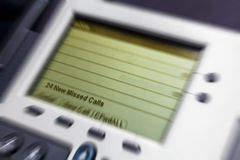 Biurowy telefonu seans Brakujący wezwanie zdjęcie royalty free