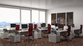 Biurowy wnętrze ilustracja 3 d ilustracji