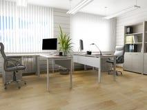 Biurowy wnętrze w nowożytnym stylu, 3d rendering zdjęcie royalty free