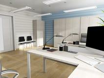 Biurowy wnętrze w nowożytnym stylu, 3d rendering obrazy royalty free