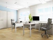 Biurowy wnętrze w nowożytnym stylu, 3d rendering zdjęcia royalty free