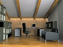 Biurowy wnętrze Ilustracji