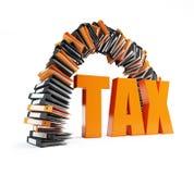 Biurowych falcówek podatku łękowata forma ilustracji
