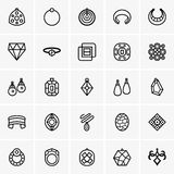 Biżuterii ikona Obrazy Stock