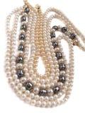 biżuterii kolii perły Obrazy Stock