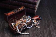 Biżuterii pudełko Fotografia Royalty Free