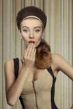 Biutiful surprised girl Royalty Free Stock Images