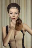 Biutiful surprised girl Royalty Free Stock Images