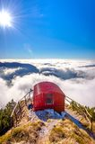Bivacco Dino and the sea of clouds, Italy Royalty Free Stock Photos
