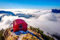 Bivacco Dino and the sea of clouds, Italy Royalty Free Stock Photography