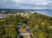 Bivio del cerchio in Sopot, Polonia immagini stock libere da diritti