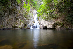 Bivongi's falls. A view of the beautiful waterfalls of Bivongi in Calabria - Italy Royalty Free Stock Photography