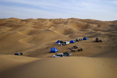 Bivouac in the Desert Stock Image