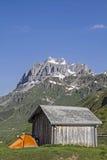 Bivouac on Klausen pass Stock Images