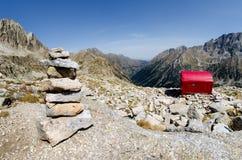 Biwakowy góry schronienie Zdjęcie Royalty Free