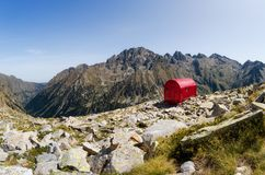 Biwakowy góry schronienie Zdjęcia Royalty Free