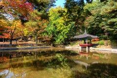 Biwon (giardino segreto) (costruito 1623 in avanti) Fotografie Stock Libere da Diritti