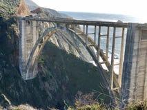 Bixby桥梁大瑟尔加利福尼亚西海岸美国 库存照片