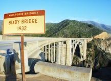 Bixby桥梁大瑟尔 库存图片