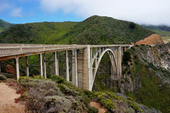 Bixby桥梁状态路线Hwy 1加利福尼亚没有汽车 图库摄影