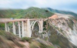 Bixby桥梁美丽的景色在大瑟尔,加利福尼亚 图库摄影