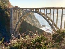 Bixby桥梁西海岸大瑟尔加利福尼亚 免版税库存图片
