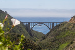 Bixby桥梁,加利福尼亚 免版税库存照片