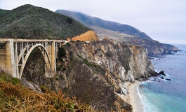 Bixby桥梁,大瑟尔,加利福尼亚 免版税库存照片
