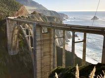 Bixby Bridżowy Duży Sura Kalifornia Fotografia Royalty Free
