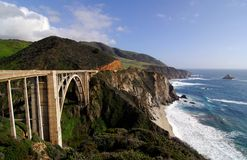 Bixby Bridge. On the Big Sur Coast of California Royalty Free Stock Photo