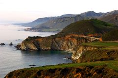 Bixby Bridge. View of Bixby Bridge From Highway One Looking To The North Stock Photo