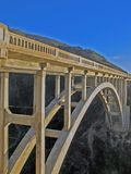 Bixby Bridge. The famous bridge that you encounter on your way to Big Sur Royalty Free Stock Photography