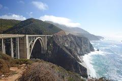 Bixby bridge. Along california pacific coast highway Stock Image