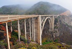 Bixby bridge on Big Sur Coastline California Stock Photos
