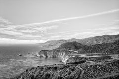 Bixby Bridge in Black and White Royalty Free Stock Image