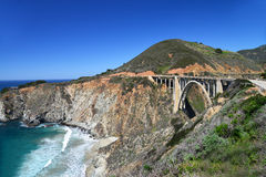 The Bixby bridge 2. The bridge on the Pacific Coast Highway, California Stock Photo