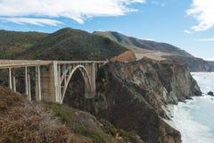 Bixby Bridge on Cabrillo Highway Stock Photos