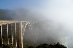 Bixby Bridge California Coast royalty free stock images