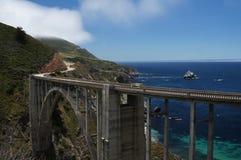 Bixby Bridge California Coast. Bixby Bridge along the California Coast on Hwy 1 Stock Photos