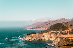 Bixby Bridge in California Coast Royalty Free Stock Photos