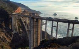 Bixby Bridge on California`s Highway Royalty Free Stock Photos