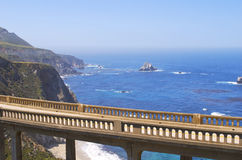 Bixby Bridge Carmel California Royalty Free Stock Images
