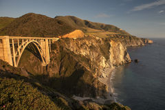 Bixby Bridge Central California Coast Stock Image