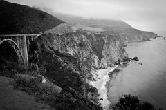 Bixby Bridge on the coast Stock Photo
